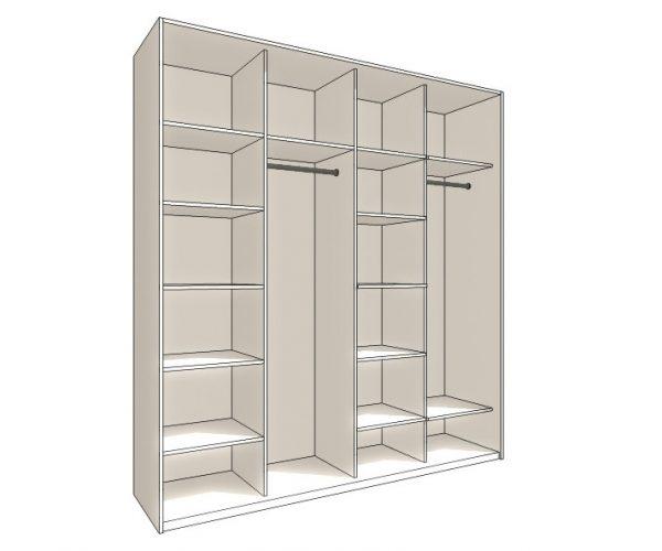 Прямой шкаф купе Кварта