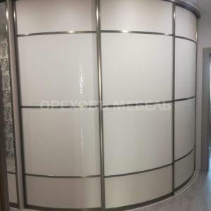 Радиусный шкаф эко кожа и пластик